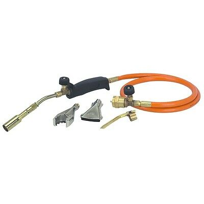 Propane Torch with 3 Burners Solder Thaw Sweat Pipes Heat Large Surfaces 350PSI