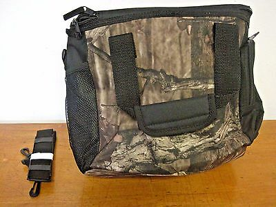 """NEW Forest First Camouflage 12"""" x 10"""" x 6"""" Cooler Bag Hunting Fishing Camping"""