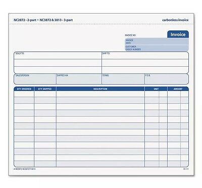 New & Sealed Tops Snap-Off Invoice, 8.5 X 7, Three-Part Carbonless, 50 Forms