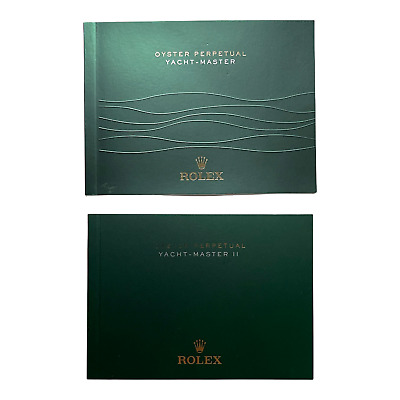 Rolex Yacht-Master / Yachtmaster Booklet, Various Years Available