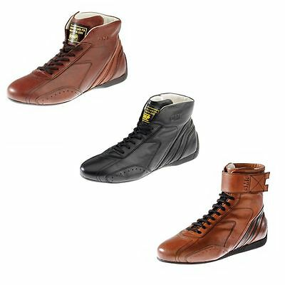 OMP Carrera Classic / Historic Leather Race / Racing Boots FIA Approved - IC78