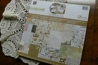 LIFE TIME Collection Kit 12x12 -18 Sheets with Letter & Journal Stickers - Prima