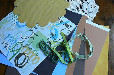 Discount CONTRAST Autumn Collection Kit 12x12 - 8 Pages & 3 Contrast Ribbons