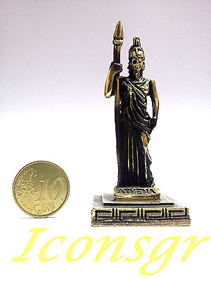 Ancient Statue Zamac Athena Greek Miniature Olympian God Pantheon Sculpture  G