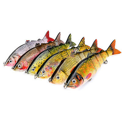 12cm Multi-Jointed Fishing Lure Bait Swimbait Bass Life-like Pike Muskie