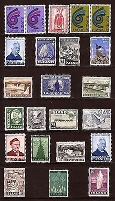 ISLANDE  Timbres neufs:Europa, usages courants,sujets divers    PR613