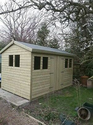 12 x 8 19mm Tanalised & Pressure Treated T&G Apex Garden Shed