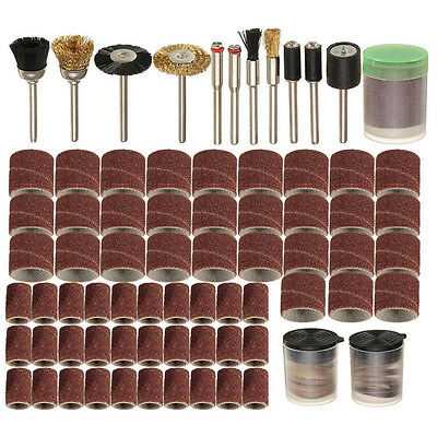 "150 Pcs Rotary Power Tool Set Fits 1/8"" Shank Sanding Polish Accessory Bit"