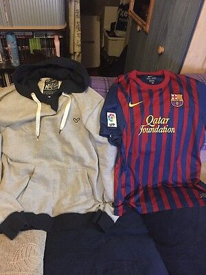 Mens Clothes Bundle- 2 Items- Size XL- A Barcelona Home Top & A Voi Hoody