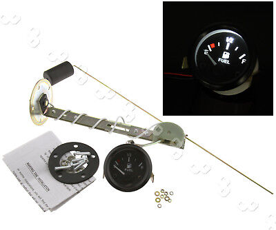 2.2'' 52mm Universal Car Fuel Level Meter Gauge With Fuel Sensor【E-1/2-F】Pointer