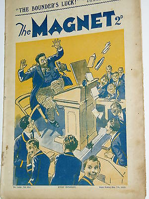 """""""Vintage""""...MAGNET COMIC.....7th May 1932.....BILLY BUNTER .........FREE POSTAGE"""