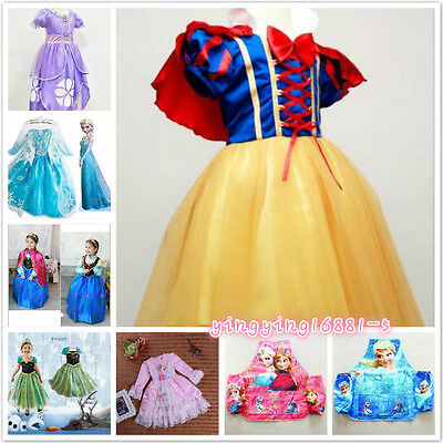 Disney-Princess-Sofia-Frozen Anna The First Childs Dresses Kids Party Costume--