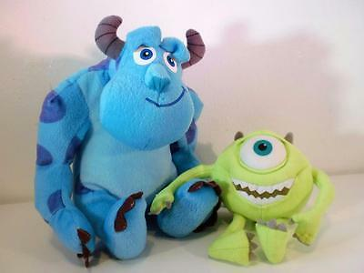 Disney Store Pixar Monsters Inc University Sully & Mike Plush Soft Toy Dolls Set