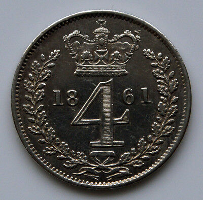 Victoria 1861 Maundy Fourpence.      (T3)