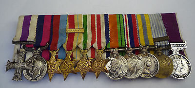 Ww2 Period Military Cross Distinguished Conduct Medal Miniature Group Of 11