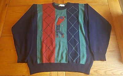 St Michael M&S Vintage Golf Jumper / Sweater / Pullover - Size Medium - UK Made.