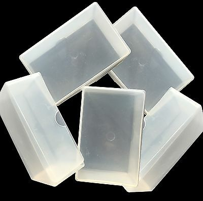 Craft Storage Boxes Small x 5 - gems embellishments charms