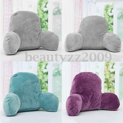 Bed Rest Back Pillow Support Arm TV Reading Backrest Seat Lounge Lumbar Cushion