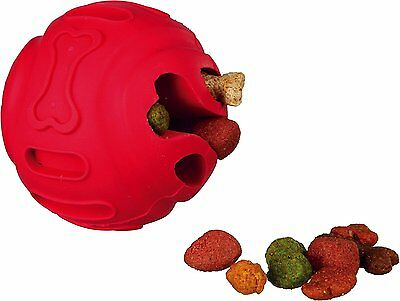 Trixie Rubber 8 Cm Treat Dispensing Snack Ball Dog Puppy Interactive Toy 34946