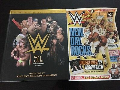 NEW WWE 50th Anniversary Hardback Book Wrestling Vince McMahon WWF