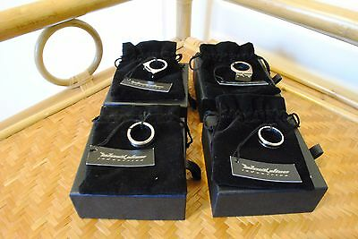 4 Black Dice Industries Mens Rings. All different. Size Small. New in Boxes.
