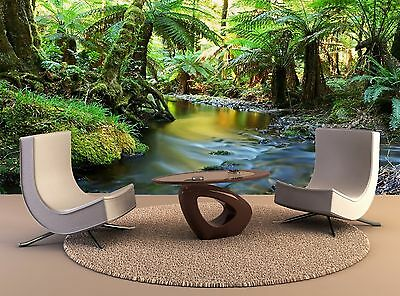 Wall Mural Rainforest River Panorama 3D Decals Wall Decor Removable Mural