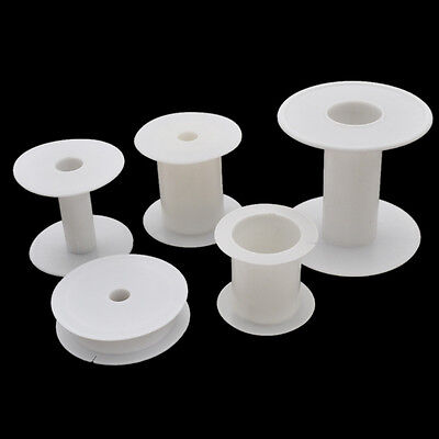 Empty Sewing Machine Bobbins Plastic Spools Reels Thread Ribbon Storage Tools