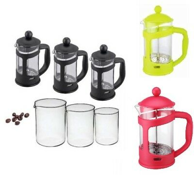 Coffee Plunger 3 Cup 6 Cup 8 Cup Cafetiere Black Coffee Maker French Press Glass