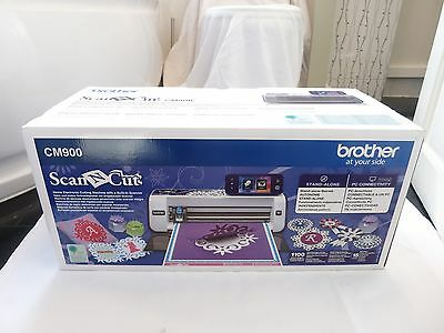 Brother Cm900 Scanncut Home Electronic Cutting Craft Machine Scanner Pc*new*uk