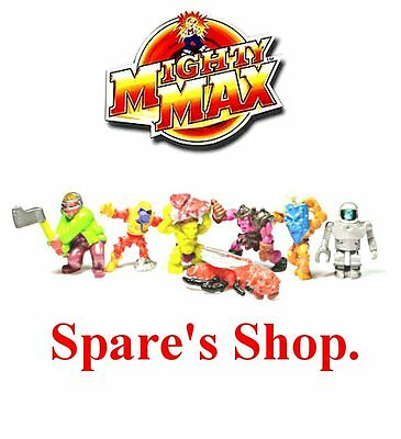 Vintage 1992 Original Mighty Max ~ FIGURES & SPARE PARTS SHOP ~ Loads to Choose