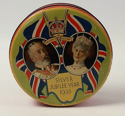 1935 Silver Jubilee King George V and Queen Mary Commemorative Tin