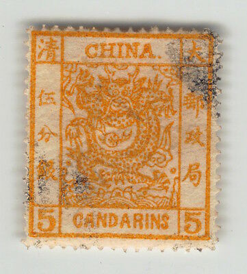 China, 3, Five Candarin, Large Dragon, Gestempelt