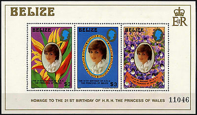 Belize 1982 SG#MS686 Princess Of Wales 21st Birthday MNH M/S Sheet #D43284