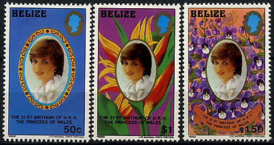 Belize 1982 SG#683-5 Princess Of Wales 21st Birthday MNH Medium Size Set#D43283