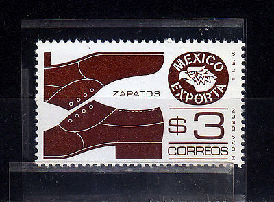Mexico Exporta. Shoes. Sc#1118, perf 14 scarce. paper 6th.glossy, unwmk.MNH.