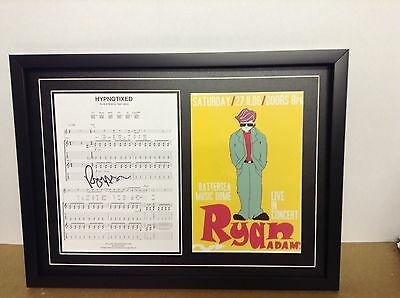 Ryan Adams Hand Signed/Autographed Songsheet with a Poster and COA
