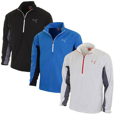Puma Golf Mens Long Sleeved Storm Jacket 568307 StormCell Waterproof Half Zip