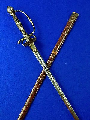 Antique French France Italy Italian 18 Century Rapier Sword w/ Scabbard