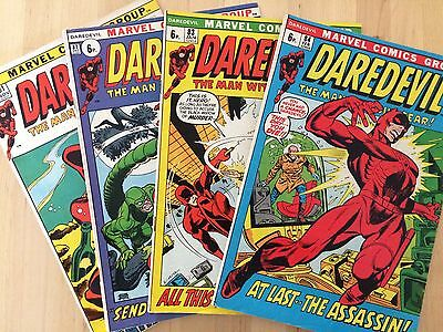 4X Marvel Comics Daredevil #81, 82, 83, 84, 1971 - 1972, pence copies