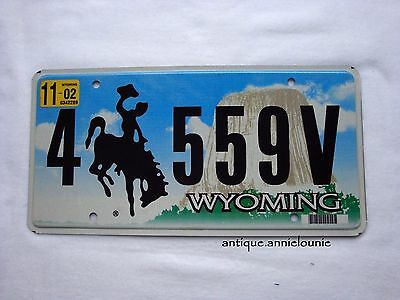 2002 WYOMING SWEETWATER COUNTY (4) Vintage License Plate # 559V
