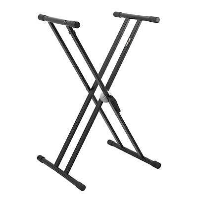 X Frame Keyboard Stand - Double Braced- Portable, Strong & Adjustable