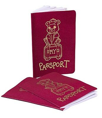 """Teddy Bear Passport - compatible with 15"""" build a bear"""