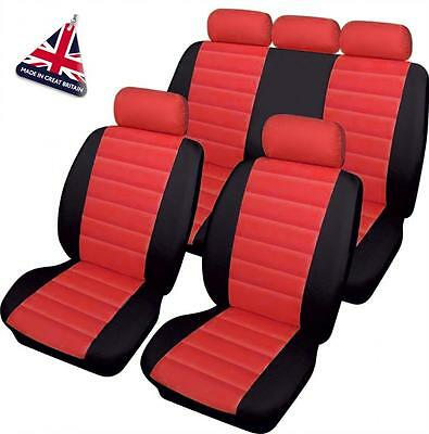 MINI RED LEATHER LOOK CAR SEAT COVERS FULL SET Clubman Countryman