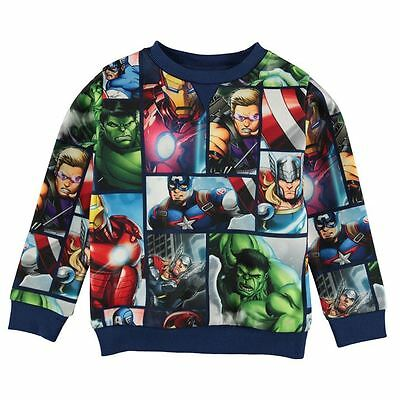 AVENGERS:MARVEL AVENGERS SWEATSHIRT,2/3,3/4,5/6,7/8,9/10,11/12yr,NEW WITH TAGS