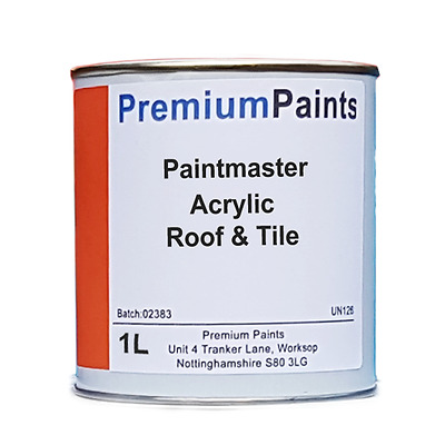 Paintmaster Heavy Duty Acrylic Roof & Tile Paint - 1 Litre (Multiple Colours)