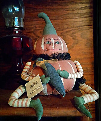 """Gathered Traditions Joe Spencer GOURDY 14"""" fugure New condition Halloween"""