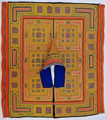 Late 20th Century Miao/Hmong/Chinese Embroidered Cape/Poncho