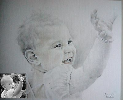 A3 PENCIL DRAWING portrait/ handmade gift