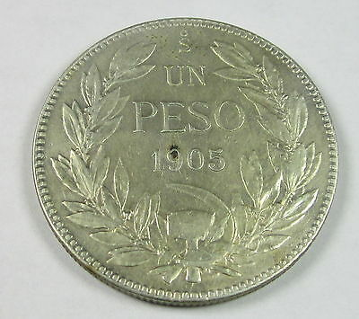 Chile Peso, 1905, Circulated, Uncertified