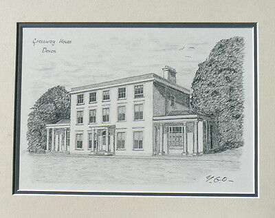 Agatha Christie's Greenway House - art picture -  print - the perfect present!!